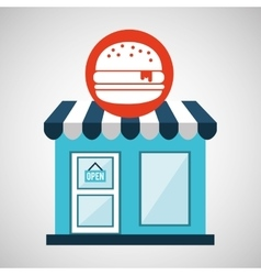 Ecommerce store fast food burger icon vector