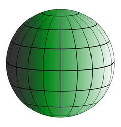 Globus 3d earth grid the effect of illumination vector
