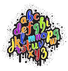 Hand drawn graffiti alphabet 01 vector