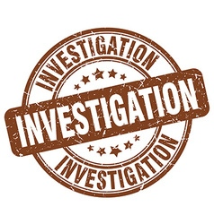 Investigation brown grunge round vintage rubber vector