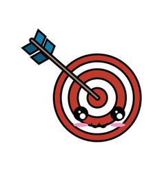 Kawaii bow and arrow icon vector