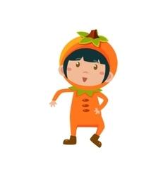 Kid In Orange Costume vector image