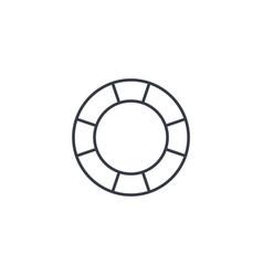 Lifebuoy thin line icon linear symbol vector
