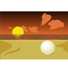 Lost golf ball vector