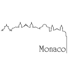 Monaco city one line drawing background vector