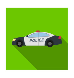 Police car icon in flat style isolated on white vector
