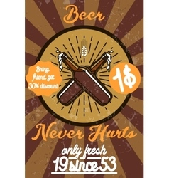 Retro styled beer banner vector image