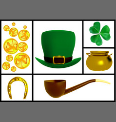Set of images for the patricks day vector