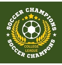 Soccer badge - emblem on dark background vector