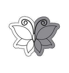 Sticker shading sketch butterfly insect icon vector