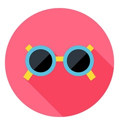 Sun Glasses Circle Icon vector image vector image
