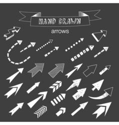 Unique collection of hand drawn arrows vector