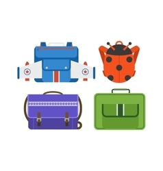 School bags isolated vector