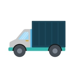 Truck container transportation delivery icon vector