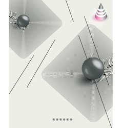 futuristic abstract poster vector image