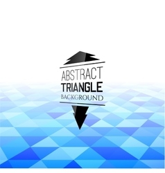 Abstract blue triangle field perspetive pattern vector image