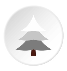 Snowy spruce icon flat style vector