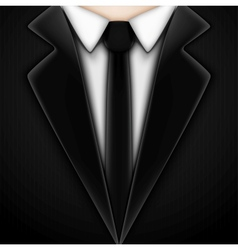 Black tuxedo with tie vector