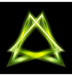 Green triangle shape vector