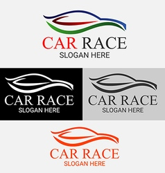 Car race logo vector