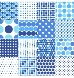 Circular polka dots background texture vector