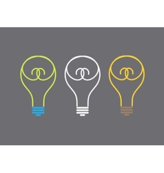 Light lamp icon vector