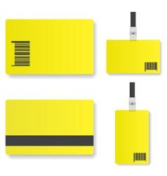 Blank yellow id card vector