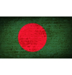 Flags bangladesh with dirty paper texture vector