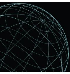 Wireframe globe vector