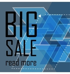 Big sale triangular abstract background vector