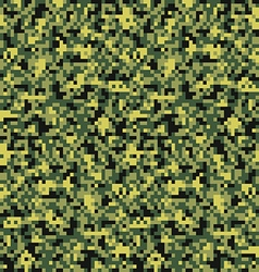 Digital pixel camouflage seamless pattern vector