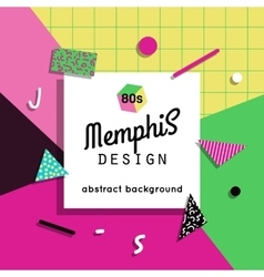 Trendy memphis cards design 1980s background vector