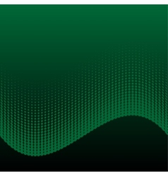 Abstract halftone green and black background vector image