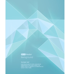 Abstract light blue background diamond style vector image vector image
