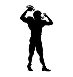 American football player uniform helmet ball vector