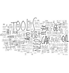 Auto tools for the diy er text word cloud concept vector