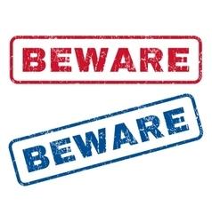 Beware rubber stamps vector