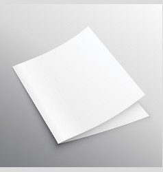 blank mockup bi-fold or book template design vector image vector image