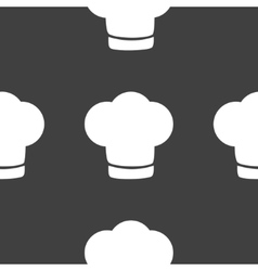 Chef cap web icon flat design Seamless gray vector image vector image