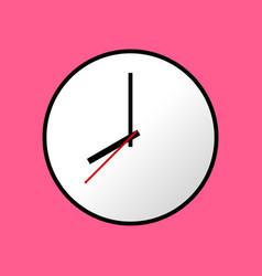 clock icon flat design eps10 vector image vector image