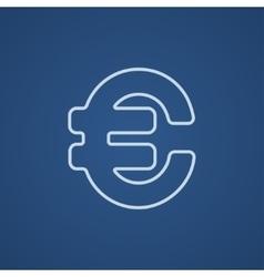 Euro symbol line icon vector