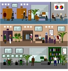 Flat design of business people or office workers vector image