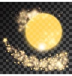 Golden star dust vector