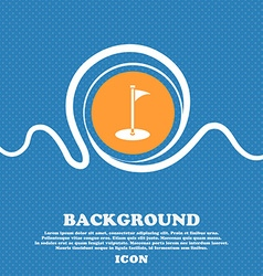 Golf icon sign blue and white abstract background vector