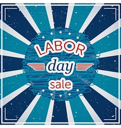 labor day sale typography poster vector image vector image