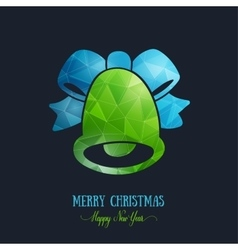 Merry Christmas card creative decoration Happy vector image vector image