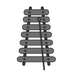 Metallic xylophone icon image vector