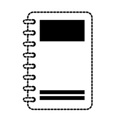 notebook with tabs icon vector image