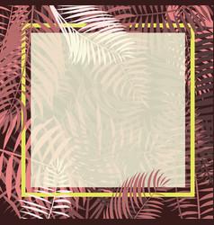 palm leaf border vector image vector image