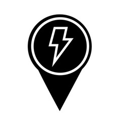 Pin location with weather symbol vector